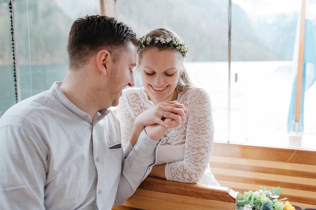 Hochzeit am See, Brautpaar, Oberlandhochzeiten